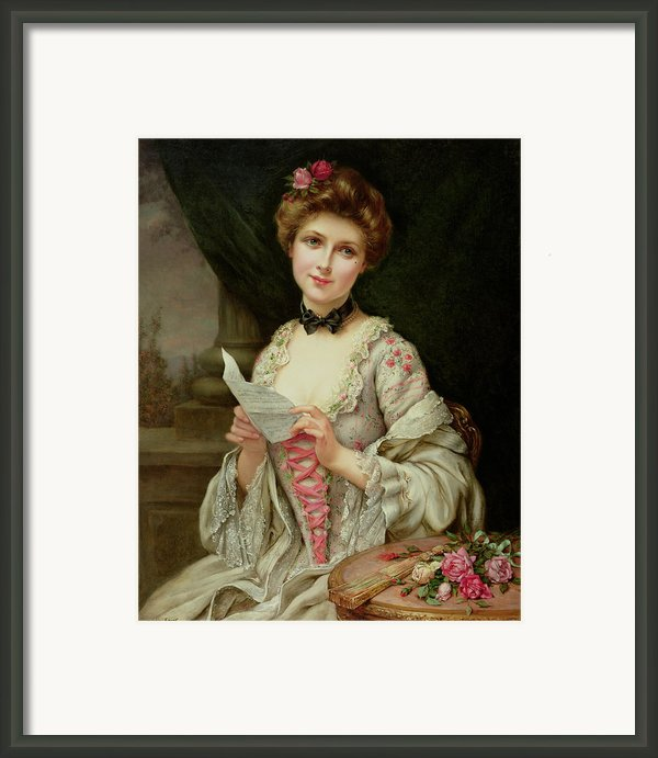 The Love Letter Framed Print By Francois Martin-kayel