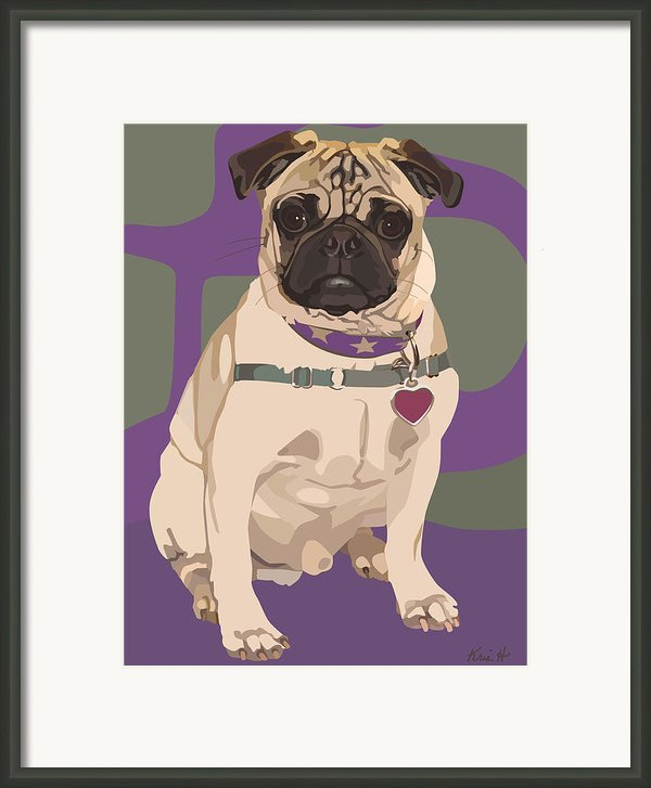 The Love Pug Framed Print By Kris Hackleman