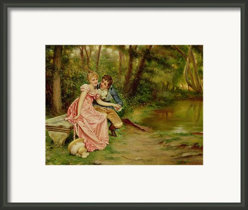 The Lovers Framed Print By Joseph Frederick Charles Soulacroix