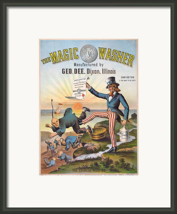 The Magic Washer. The Chinese Must Go Framed Print By Everett