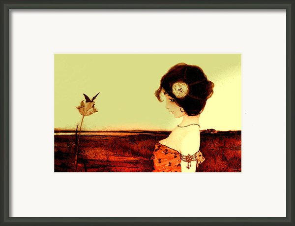 The Maid And The Flower Framed Print By Stefan Kuhn