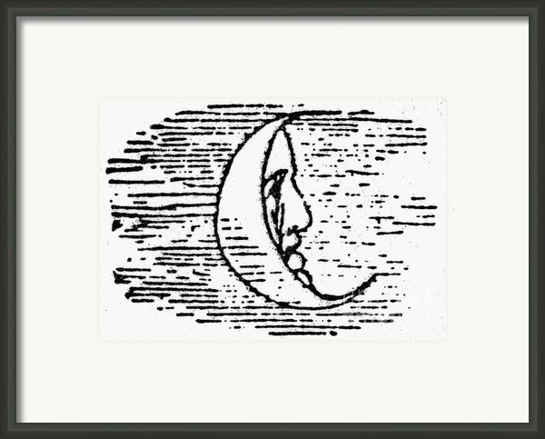 The Man In The Moon Framed Print By Granger