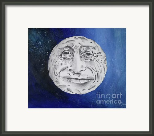 The Man In The Moon Framed Print By Kristin Weldon Peri