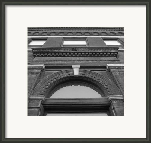 The Manley Popcorn Building Bw Framed Print By Elizabeth Sullivan
