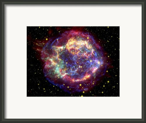The Many Sides Of The Supernova Remnant Framed Print By Nasa