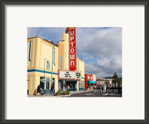 The Marching Band At The Uptown Theater In Napa California . 7d8922 Framed Print By Wingsdomain Art And Photography