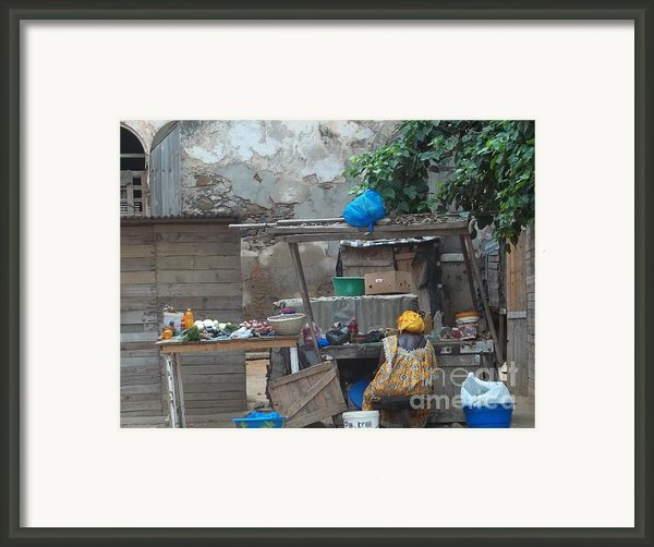 The Market Framed Print By Fania Simon