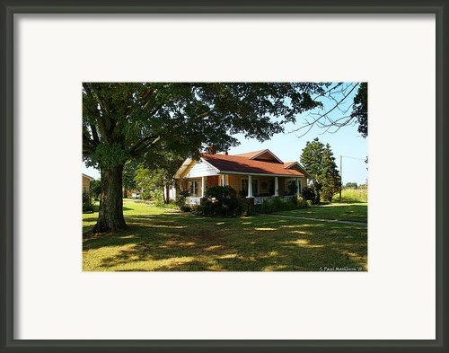 The Mashburn Home Place Framed Print By Paul Mashburn
