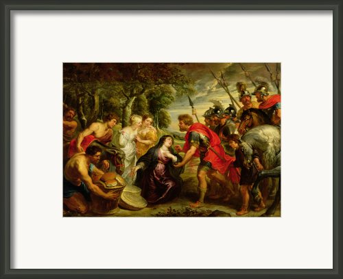 The Meeting Of David And Abigail Framed Print By Peter Paul Rubens