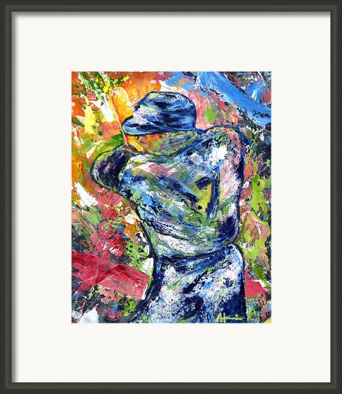 The Mick Mickey Mantle Framed Print By Ash Hussein