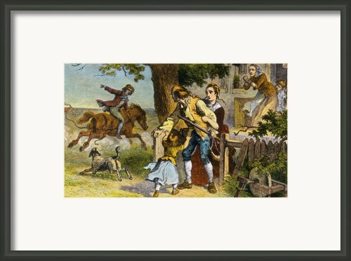 The Midnight Ride Of Paul Revere, 1775 Framed Print By Photo Researchers