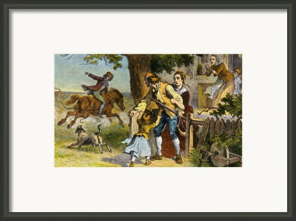 The Midnight Ride Of Paul Revere 1775 Framed Print By Photo Researchers
