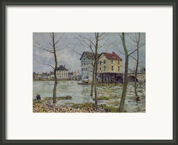 The Mills At Moret Sur Loing Framed Print By Alfred Sisley