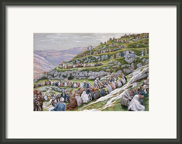 The Miracle Of The Loaves And Fishes Framed Print By Tissot