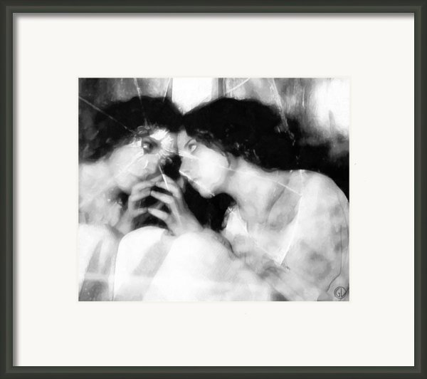 The Mirror Twin Framed Print By Gun Legler