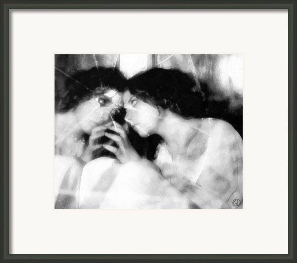 The Mirror Twin Framed Print By Gun Legler
