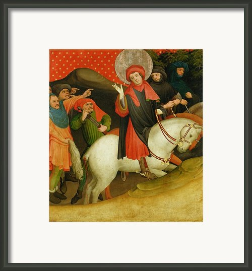 The Mocking Of Saint Thomas Framed Print By Master Francke