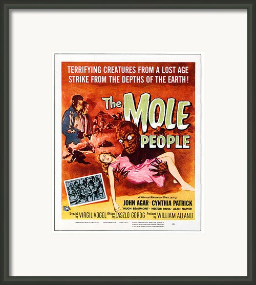 The Mole People, Upper Left Framed Print By Everett