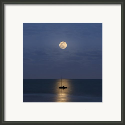 The Moon Guide Us Framed Print By Carlos Gotay