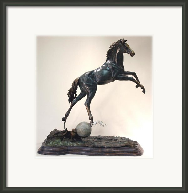 The Moonhorse Bronze Framed Print By Dawn Senior-trask
