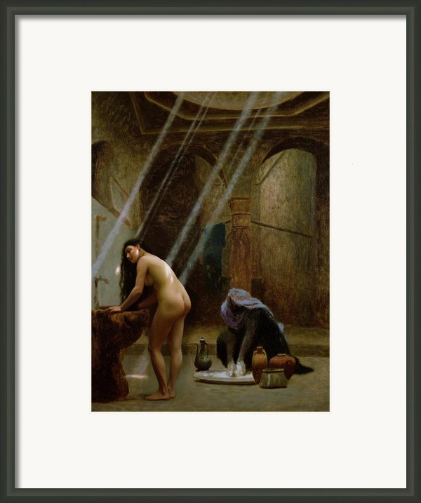 The Moorish Bath Framed Print By Jean Leon Gerome