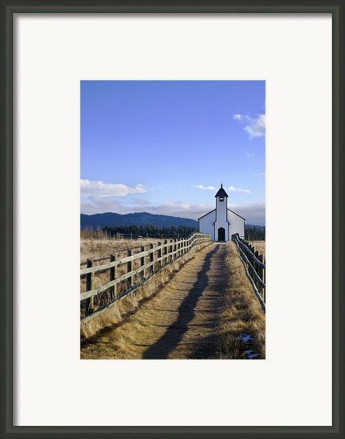 The Morley Church, Alberta, Canada Framed Print By Philippe Widling