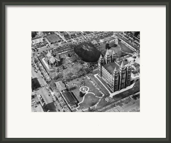 The Mormon Tabernacle, In Salt Lake Framed Print By Everett