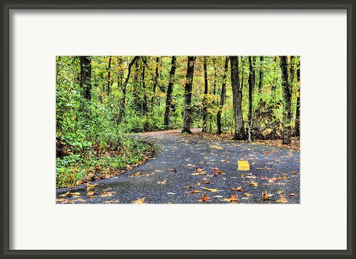The Mount Vernon Trail. Framed Print By Jc Findley