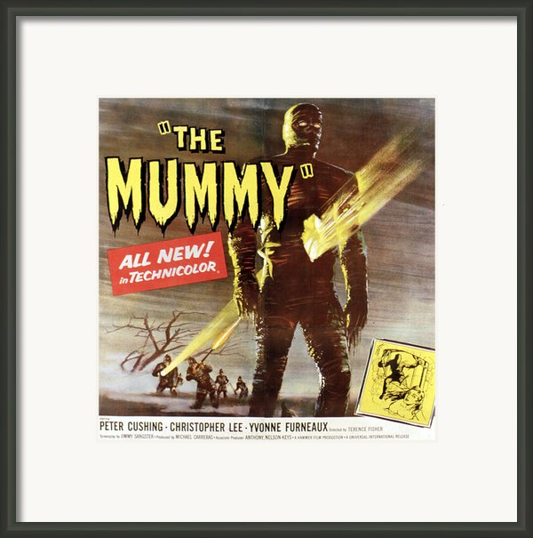 The Mummy, Christopher Lee, 1959 Framed Print By Everett