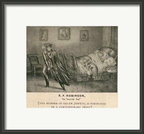 The Murder Of Helen Jewett In 1836 Framed Print By Everett