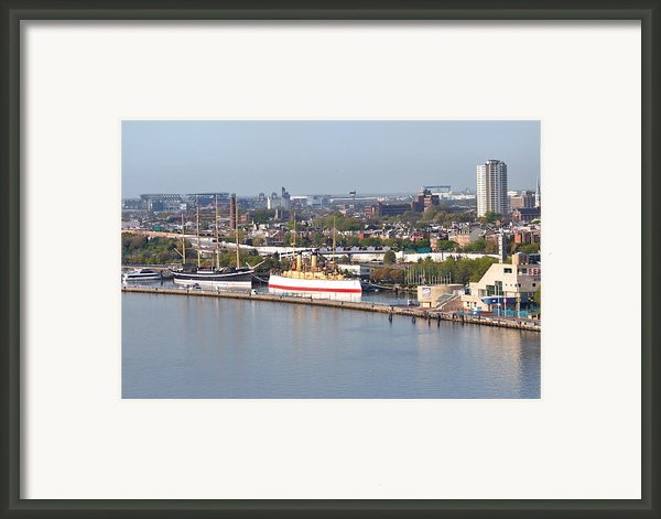 The Mushulu And Monitor With The Sports Complex In The Background Framed Print By Bill Cannon