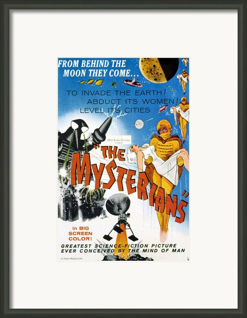 The Mysterians, 1959 Framed Print By Everett