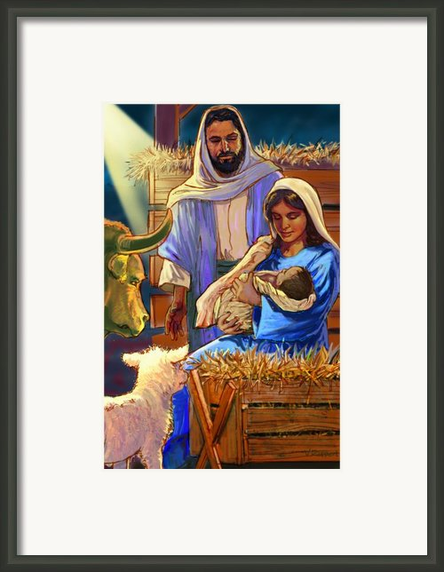 The Nativity Framed Print By Valerian Ruppert