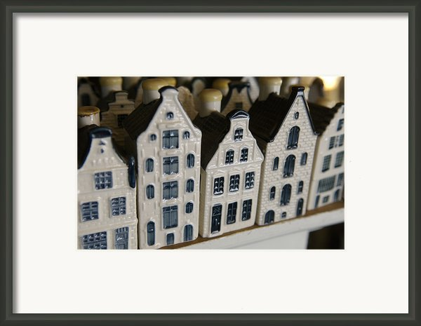 The Netherlands, Amsterdam, Model Houses Framed Print By Keenpress
