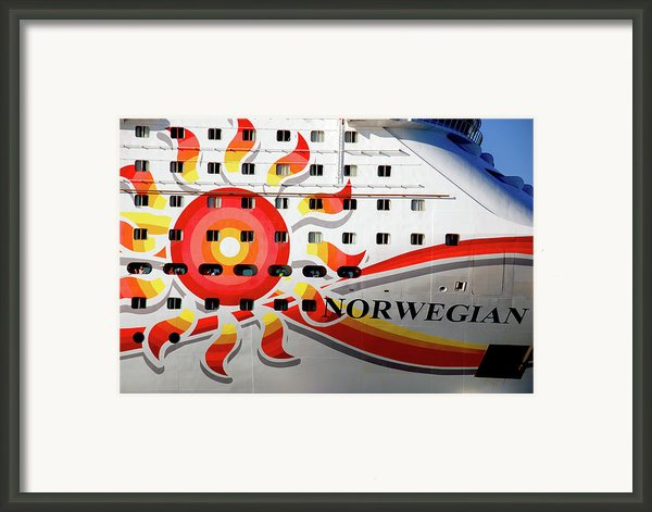 The Norwegian Sun Bow Framed Print By Susanne Van Hulst