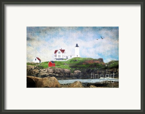The Nubble Framed Print By Darren Fisher
