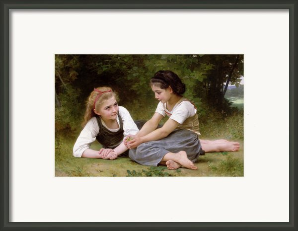 The Nut Gatherers Framed Print By William-adolphe Bouguereau