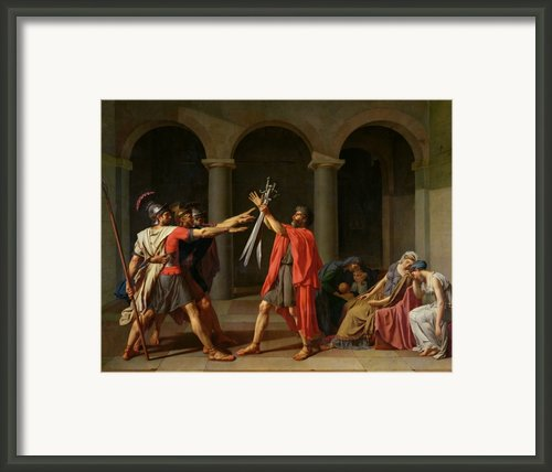 The Oath Of Horatii Framed Print By Jacques Louis David