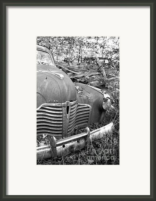 The Old Buick Framed Print By Amanda Norman-campbell