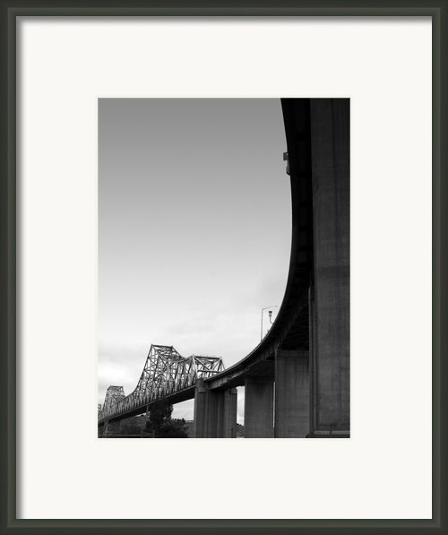 The Old Carquinez Bridge . Black And White . 7d8832 Framed Print By Wingsdomain Art And Photography