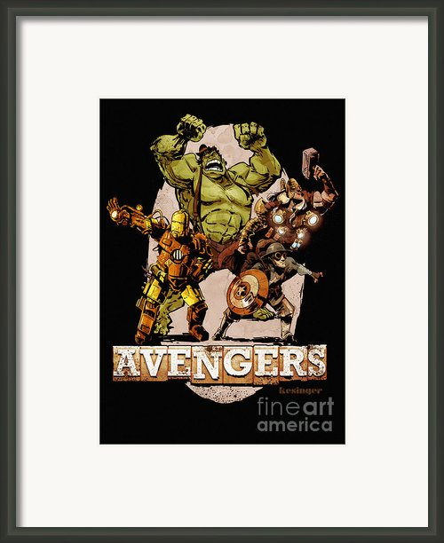 The Old Time-y Avengers Framed Print By Brian Kesinger