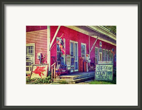 The Olde Country Store Framed Print By Kathy Jennings