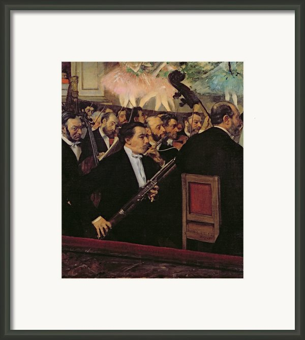 The Opera Orchestra Framed Print By Edgar Degas
