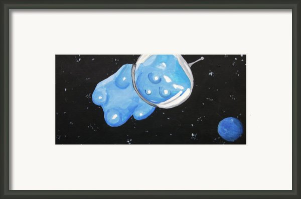 The Original Gummy Bear In Space Framed Print By Jera Sky