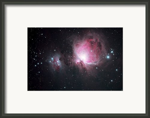 The Orion And The Running Man Nebulae Framed Print By Pat Gaines