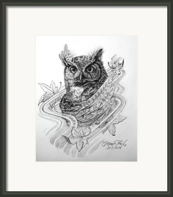 The Owl Framed Print By Thomas Hoyle