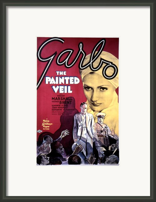 The Painted Veil, Greta Garbo, 1934 Framed Print By Everett