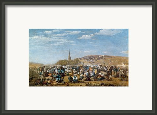 The Pardon Of Sainte Anne La Palud Framed Print By Eugene Louis Boudin