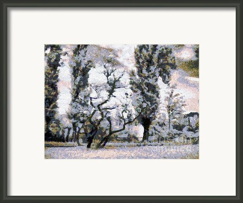 The Park Framed Print By Odon Czintos