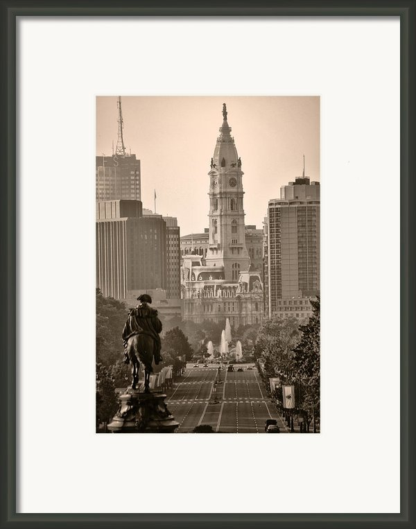 The Parkway In Sepia Framed Print By Bill Cannon